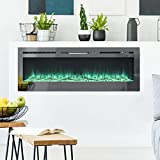 Best Fireplace Inserts - FIDOOVIVIA Electric Fireplace Wall/Insert Mounted Fire Suite Heater Review