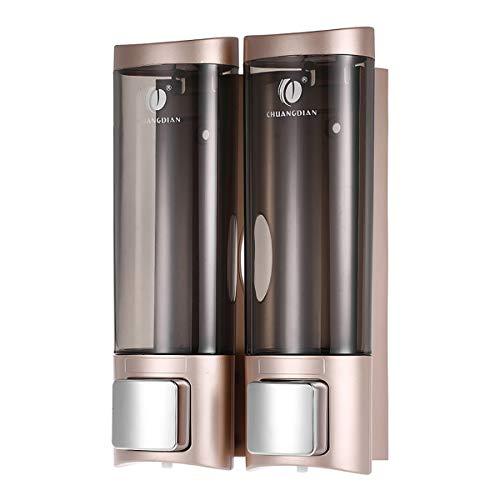 Anself CHUANGDIAN Wall Mount Manual Soap Dispenser Double Liquid Shampoo Shower Gel...