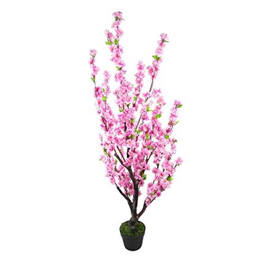 Leaf LEAF-7255 Design UK - Flores Artificiales realistas de Seda en Maceta (120 cm), Color Rosa