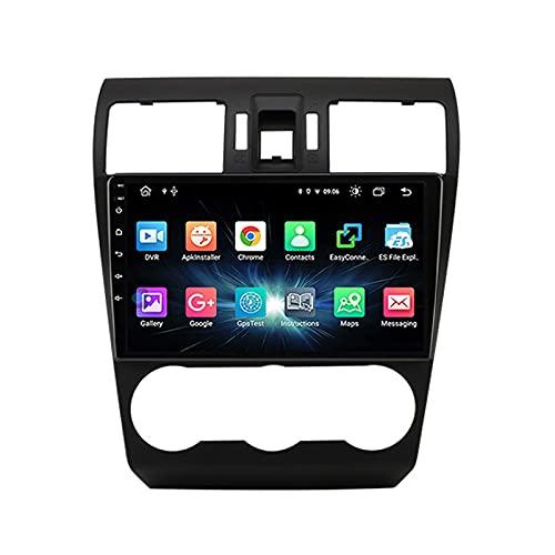 Android 10.0 Car Radio Stereo 1 DIN para Subaru Forester 2012-2015 Navegación GPS 9 Pulgadas IPS Pantalla táctil Reproductor Multimedia MP5 Receptor de Video con 4G WiFi SWC USB Carplay