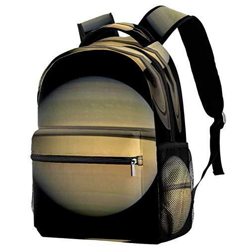 LAZEN Mochila ligera Mochila escolar universitaria Mochila para portátil para adultos y niños Mochila informal Universe Saturn Planet