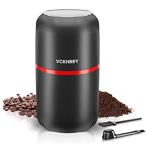 VCKHRRY Kaffeemühle 300w Elektrische Kaffeemühle 120g Kapazität Getreidemühle Bohnen Nüsse Gewürze Körner Dichtung Abdeckung 304 Edelstahl Klingen Multi-Way Einfach Zu Bedienen