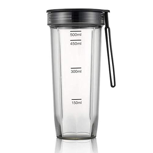 wawale Plasticwater flessen voor water transparante lekvrije mok koffie beker met deksel outdoor sport drinken fles 500ml