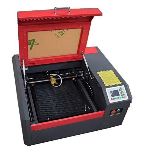 40-50W CO2 Laser Engraver with 400x400mm Working Area Matching Burn Light (4040 RuiDa Controller)
