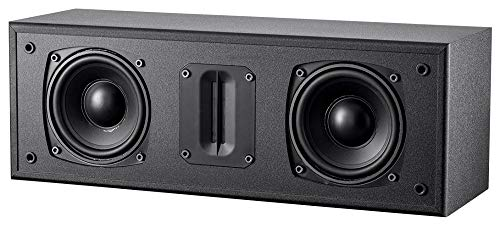 Monoprice Mp-C65Rt Center Channel Speaker - Black with Dual 4.5 Woofers, Ribbon Tweeter, Compact Design (135125)