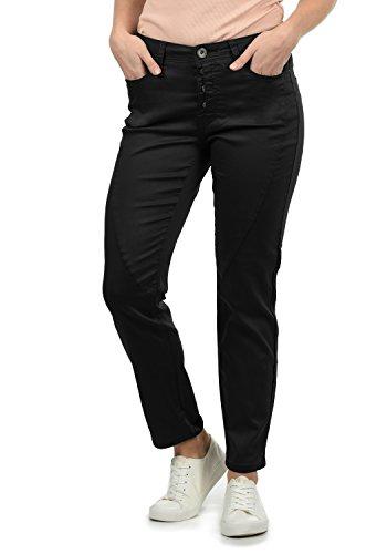 DESIRES Elbja Damen Jeans Denim Hose Boyfriend-Jeans Aus Stretch-Material Loose Fit, Größe:40, Farbe:Black (9000)