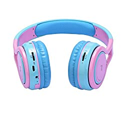cheap Contixo KB2600 Kid Safe 85db Folding Wireless Bluetooth Headphone Built-in Microphone, MicroSD…