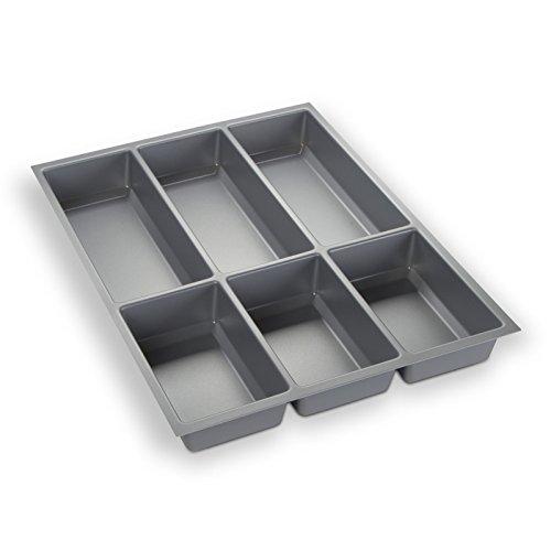 Orga-Box Bac à Couverts Gris argenté pour Tiroir de 45 cm p.ex. Nobilia dès 2013 (473,5 x 344 mm) III