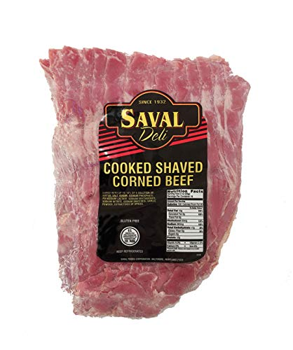 Saval Deli Corned Shaved Beef - Fresh Traditional Gluten Free Deli Meat - 2Lbs