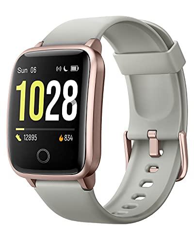 Willful Reloj inteligente para hombre y mujer, reloj de fitness, rastreador de fitness con pulsómetro, podómetro, pulsera de fitness