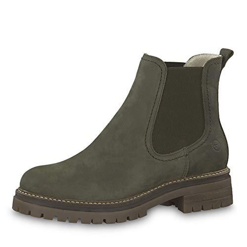 Tamaris Damen Stiefeletten 25474-23, Frauen Chelsea Boots, elegant Women's Women Woman Freizeit leger Stiefel halbstiefel Bootie,Olive,39 EU / 5.5 UK
