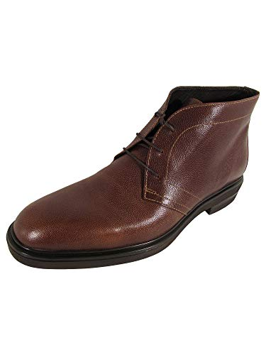Donald J Pliner Mens Ericio-ZG Leather Chukka Boot Shoes, Brandy, US 10