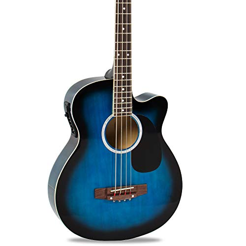 Best Choice Products 22-Fret Full Size Acoustic Electric Bass Guitar w/ 4-Band Equalizer, Adjustable...