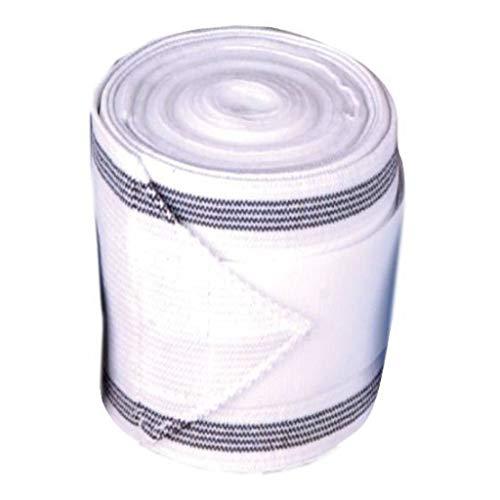 HKM 553242 HKM Kombi-Bandage Elastikfleece, Länge 300 cm, weiß/schwarz