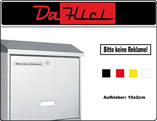 DaHici sticker brievenbus Gelieve geen reclame durchmesser 5cm zwart