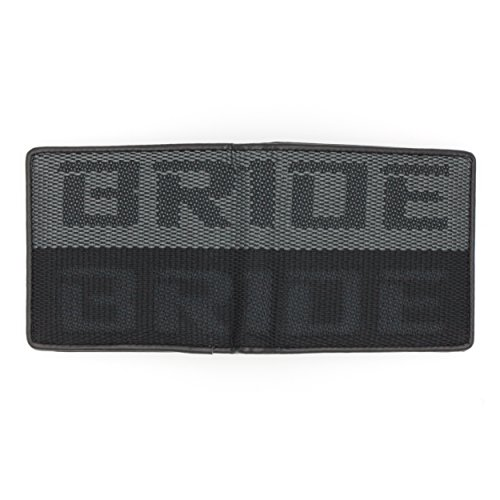 Kei Project Bride Racing Wallet Seat Fabric Leather Bi-fold Gradation (Black/Gray)