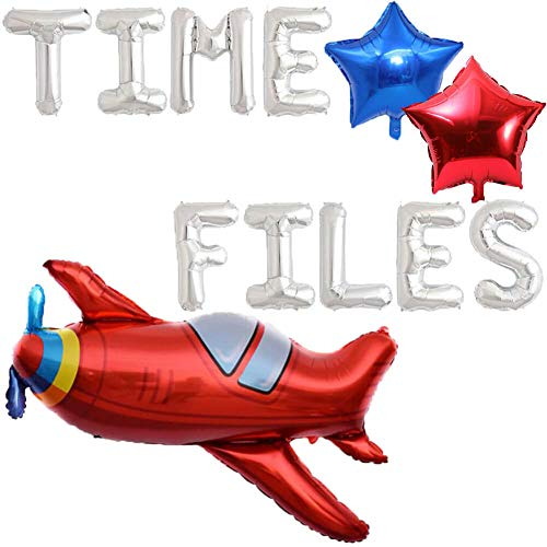 Time Flies Balloons, Airplane Birthday Party Decorations, Airplane Aviator Adventure Themed Boys Girls Kids 1st 2nd 3rd 4th Birthday Baby Shower Party Supplies Decorations