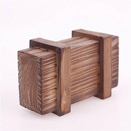 Caja de regalo Calistouk de madera con diseño de rompecabezas