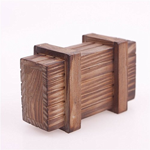 Calistouk Caja mágica de madera de regalo secreto con diseño de rompecabezas