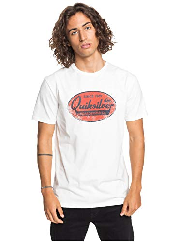 Quiksilver What We Do Best Camiseta, Hombre, Snow White, S