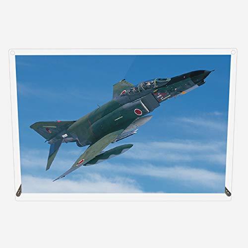 CuVery アクリル プレート 写真 航空自衛隊 偵察機 RF-4E デザイン スタンド 壁掛け 両用 約A3サイズ