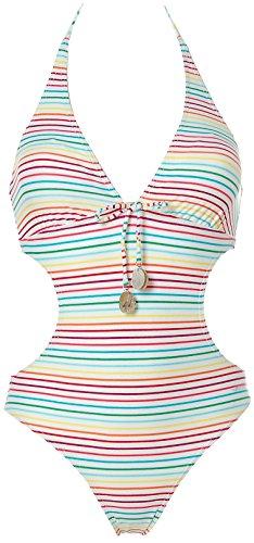 Shiwi® Neckholder Monokini Badeanzug Bikini Weiß 34