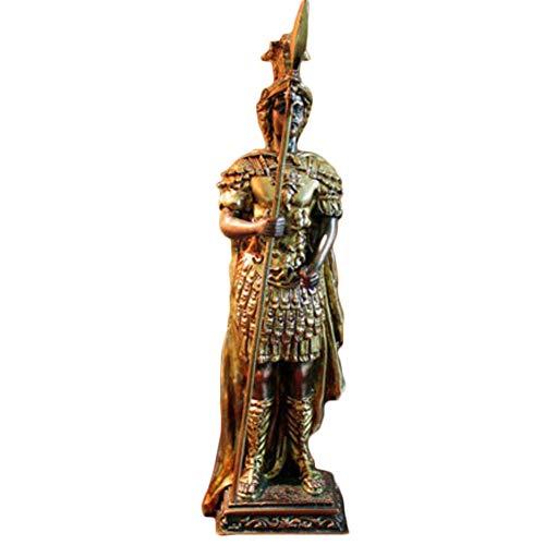 AUKLM Europese oude soldaat sculptuur, creatieve hars sculptuur, Europese huisdecoratie ornamenten ambachten geschenken, geschikt voor woonkamer TV kast slaapkamer kantoor (10 * 9 * 33cm)