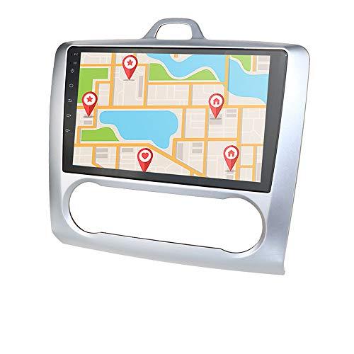 Navegación GPS con Radio de Coche Android 10 de 2 + 16GB con Pantalla táctil de 9 Pulgadas 1080P Compatible con Ford Focus Exi At 2004-2011 Multifunción