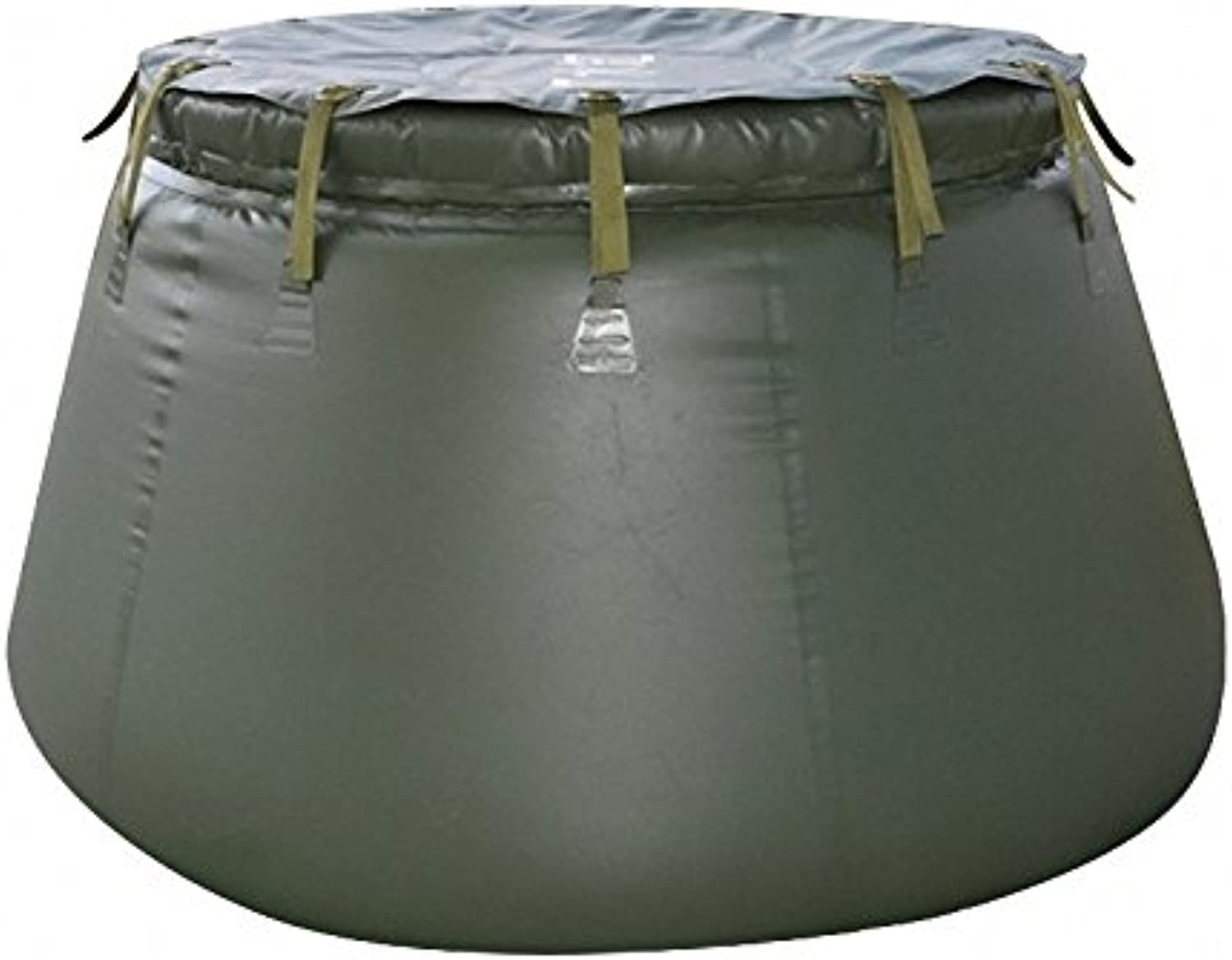 Foldable TPU Water Storage Tank in Green color for Agriculture and Industry, 1000 L (About 264 Gallon) Storage Capacity 2000 L (528 Gallon) Storage Capacity