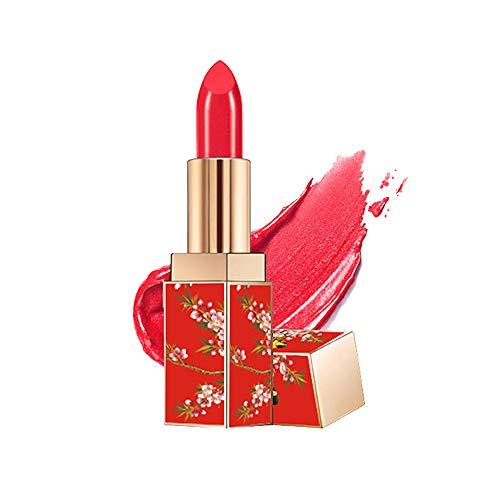 STQANON Natural Long Lasting Moisturizing Lipstick Chinese Palace Style Lip Makeup 1.2 Ounce (Crimson/Magenta) 02