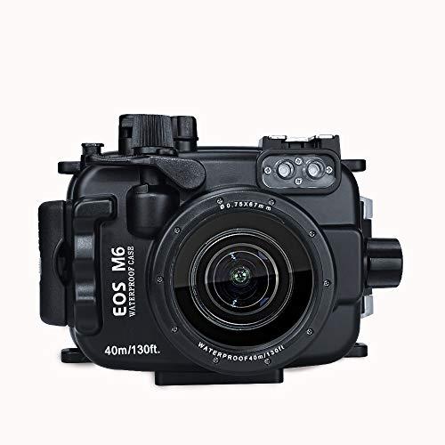 Sea frogs für Canon EOS M6 130ft/40m Unterwasser Kamera Tauchen wasserdicht Gehäuse mit 22mm Linse