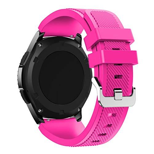 YGGFA Banda para Samsung Galaxy Watch 46mm / 42mm / Activo 2 Engranaje S3 Frontier para Huawei Watch GT 2E / 2 GTS Correa 20 / 22mm Correa de Reloj (Band Color : Barbie Powder, Band Width : 22mm)