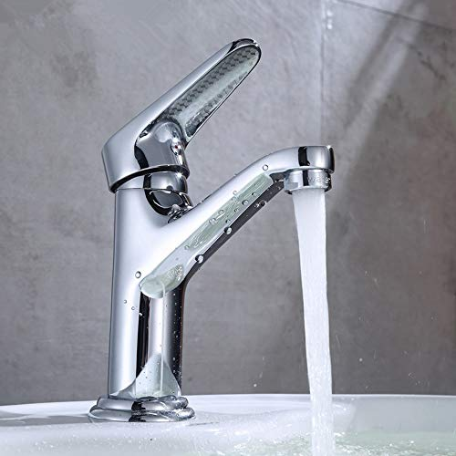 SHENLIJUAN. Hahn-Badezimmer-Aufsatzbecken Basin Rotating Kupfer-Hahn-Badezimmer Waschbecken Red Flushing Hahn