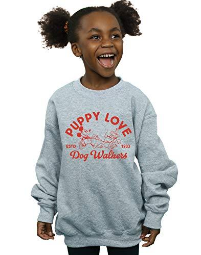 Disney Niñas Mickey Mouse Puppy Love Camisa De Entrenamiento Deporte Gris 12-13...