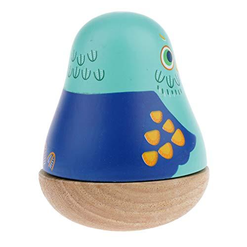 Baby Roly Juquete de Tentetieso con Caja de Música Clásica con Reloj Mecánico Regalo de Cumpleaños para Niños, Niñas, Amigos - Azul