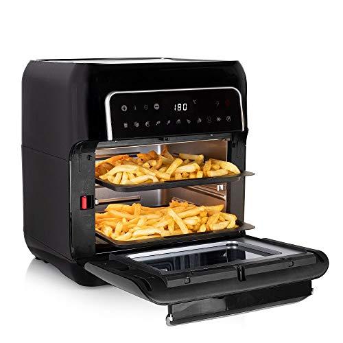 Tristar FR-6998 Digitale Heißluftfritteuse Mini Backofen, 10 Programme, 2 Grillroste & großer Korb für Pommes, 10 Liter Fassung, 1500 Watt Leistung