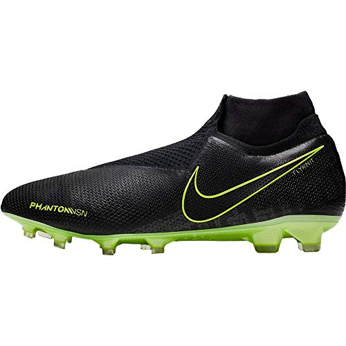 Nike Phantom VSN Elite DF FG, Scarpe da Calcio Uomo, Black/Black-Volt, 43 EU