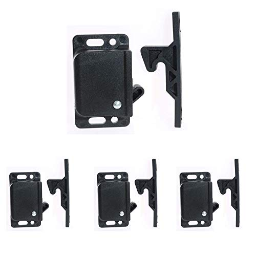 Cabinet Door Latch/RV Drawer Latches,Pull Force Cabinet Latch,Universal Push Latch,Spring Hook latches,for RV, Trailer, Motor Home, Camper, Office, Motor-12 Pack