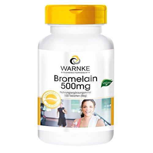 Bromelain 500mg - 1200 F.I.P - natürliches Ananasenzym - vegan & hochdosiert - 100 Tabletten