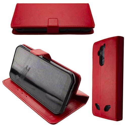 caseroxx Tasche für Gigaset GX290 Bookstyle-Hülle in rot Cover Buch
