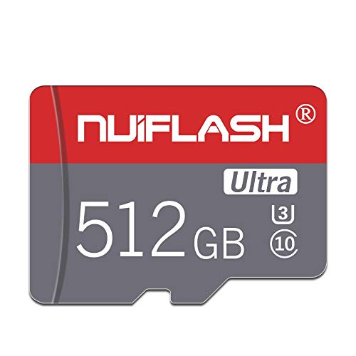 Micro SD Card 512GB TF Card,Memory Card 512GB Class 10 with Free Adapter,Designed for Nintendo-Switch Android Smartphones,Tablets and Others