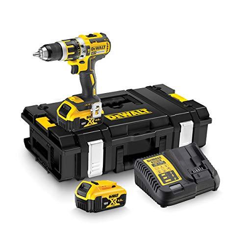 DEWALT DCD795M2-QW - Taladro Percutor a bateria sin escobillas XR 18V 13mm 60Nm con 2 baterías Li-Ion 4,0Ah y maletín