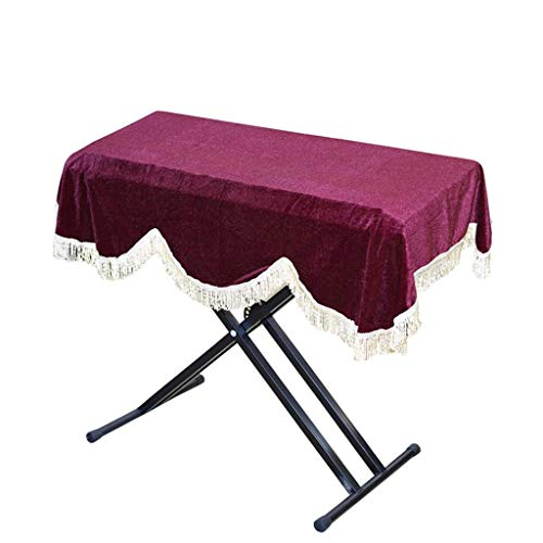 Electric Piano stofkap - Electric Piano Cover Fabric Dust Cover gewatteerde stof 88-Key Piano Cover (95 × 42 cm),3