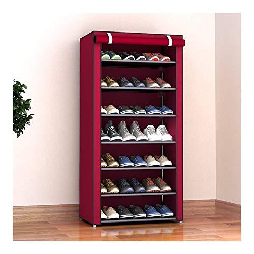 kiter Zapatera Gabinete de Zapatos Multicapa a Prueba de Polvo Plegable Paño no Tejido Almacenamiento de Zapatos Soporte de Soporte Montaje de Bricolaje Organizador de Zapatos Rack Zapatero