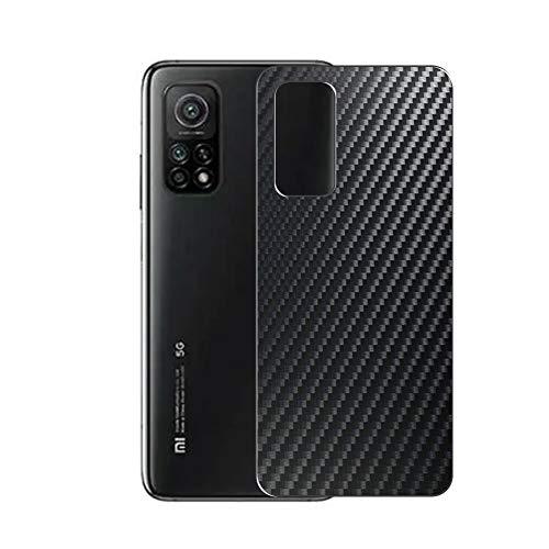 VacFun 2 Piezas Protector de pantalla Posterior, compatible con XIAOMI Redmi K30S, Película de Trasera de Fibra de carbono negra