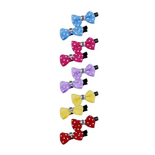 Rycnet Lot de 10 mini nœuds mignons pour chien chat ou chat