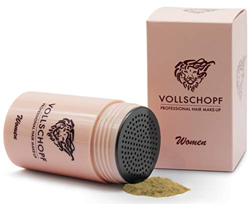 Vollschopf Schütthaar speziell für Frauen - Streuhaar bei weiblichem Haarausfall - Hair Fibers für dünnes Frauen-Haar - Haar-Pulver Farbe Blond - Dunkelblond