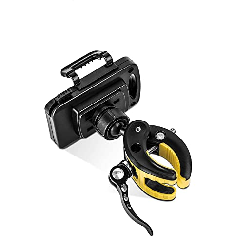Soporte para teléfono móvil de bicicleta, soporte para teléfono de motocicleta, giratorio de 360°, ajustable, desmontable, antivibración, para teléfonos inteligentes 4.0-6.8