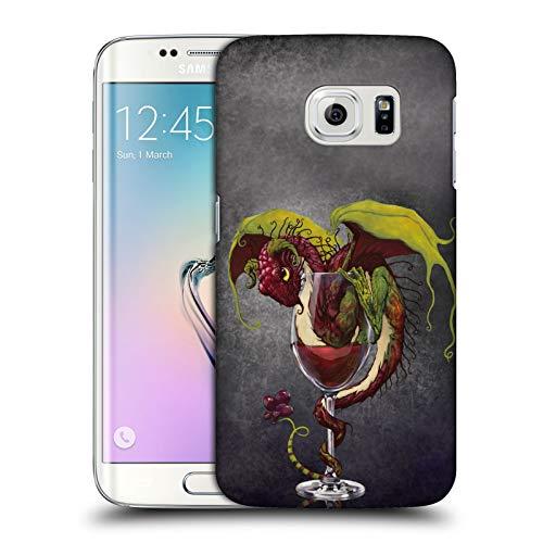 Head Case Designs Ufficiale Stanley Morrison Bevanda al Vino Rosso Draghi Cover Dura per Parte Posteriore Compatibile con Samsung Galaxy S6 Edge