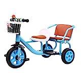 Triciclos Triciclo para niños en bicicleta en tándem, puede traer a las personas con doble asiento en el asiento multifunción para niños pedal de triciclo de kindergarten Educación temprana Vehículo